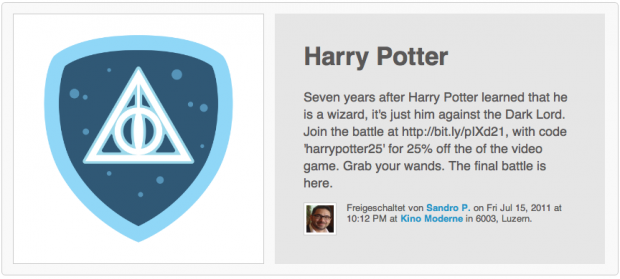 4sq blog harry potter badge