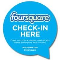 foursquare - checkin here