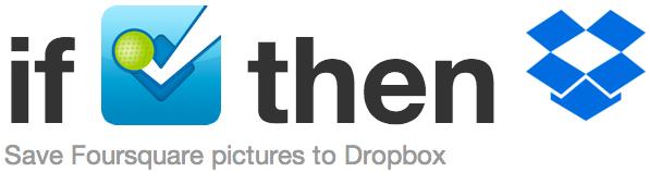 IFTTT Foursquare-Dropbox