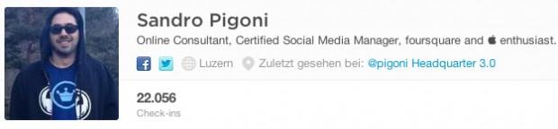 Sandro Pigoni Foursquare Profil